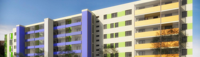 Neugestaltung Wohnquartier Seeburgviertel Leipzig
